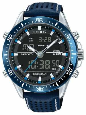 Lorus Mens Sport Analogue/Digital Chronograph Blue RW643AX9
