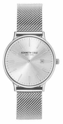 Kenneth Cole Womans Stainless Steel Mesh Bracelet Silver Dial KC15057007