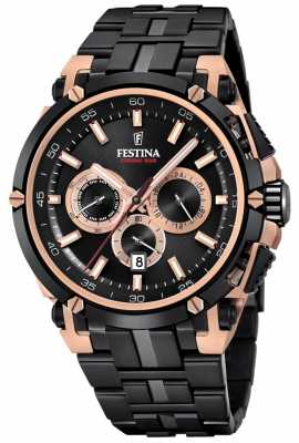 Festina Mens Chronobike 2017 Special Edition Iron Plated Rose Gold F20329/1