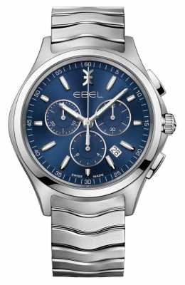 EBEL Wave Gents  Blue Dial Chronograph Watch 1216344