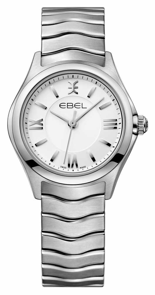 ebel wave womens stainless steel 1216374