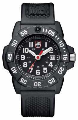 Luminox Navy Seal 3500 Series Black Dial Black PU Strap XS.3501