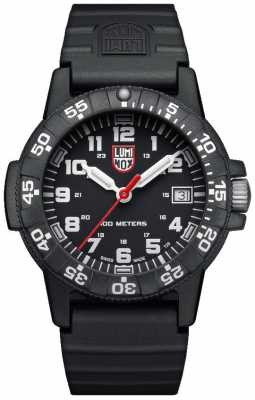 Luminox Sea Turtle 0300 Series Black PU Strap XS.0301