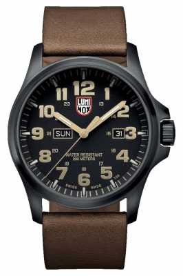 Luminox Atacama Field Day Date 1920 Series Black Dial Leather Strap XL.1929