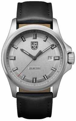 Luminox Dress Field 1830 Series Silver Dial Black Leather Strap XL.1839