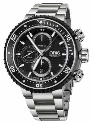 Oris Prodiver 1000m Automatic Chronograph Stainless Steel 01 774 7727 7154-SET