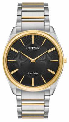 Citizen Mens Eco-drive Stiletto Ultra Thin Two Tone AR3074-54E