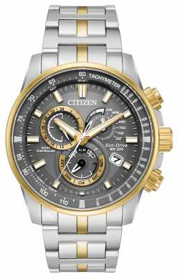 Citizen Mens Eco-drive Radio Controlled Two Tone Chrono AT4124-51H