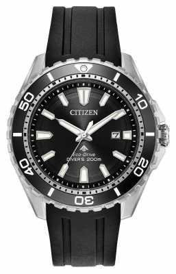 Citizen Mens Eco-drive Promaster Divers Ruber Strap BN0190-07E