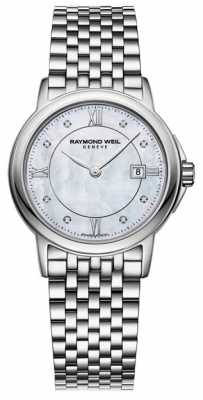 Raymond Weil Womens Tradition Stainless Steel Diamond 5966-ST-00995