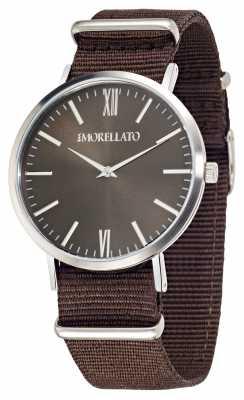Morellato Mens Vela Brown Dial Brown Strap Watch R0151134007