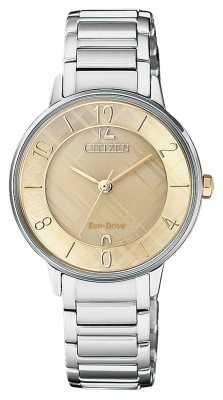 Citizen Womens Silhouette Patterned Dial Watch EM0526-88X