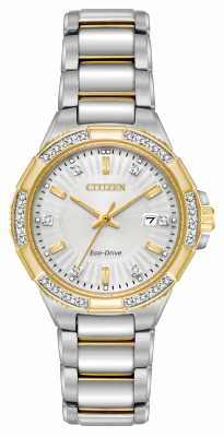 Citizen Womens Riva Diamond Two Tone Stainless Steel Watch EW2464-55A