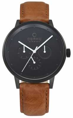 Obaku Mens Venlig Tan Leather Watch V208GMBBRZ