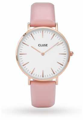 CLUSE La Boheme Rose Gold Case White Dial/pink Strap CL18014