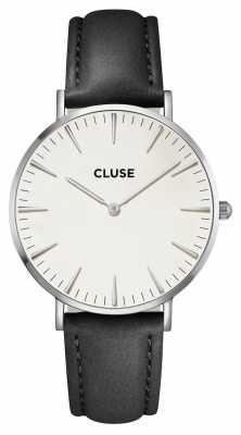 CLUSE La Boheme Silver Case White Dial/black Strap CL18208