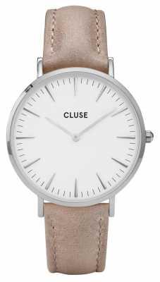 CLUSE La Boheme Silver Case White Dial/hazel Strap CL18234