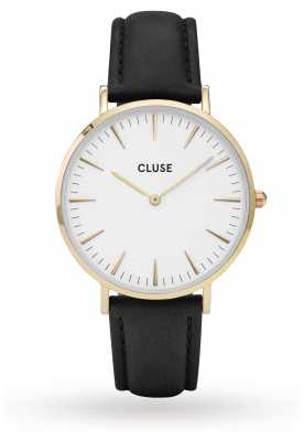 CLUSE La Boheme Gold Case White Dial/black Strap CL18406