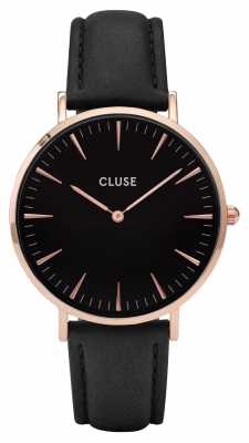CLUSE La Boheme Rose Gold Case Black Dial/black Strap CL18001