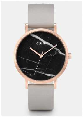 CLUSE La Roche Rose Gold Case Marble Dial/grey Strap CL40006