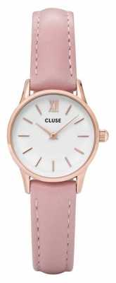 CLUSE La Vendette Rose Gold Case White Dial/pink Strap CL50010