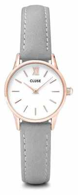 CLUSE La Vendette Rose Gold Case White Dial/grey Strap CL50009