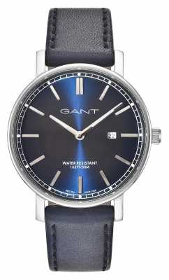 GANT Mens Nashville Blue Leather Strap Blue Dial GT006002