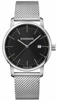 Wenger mens Urban Classic Stainless Steel Mesh Watch 01.1741.114