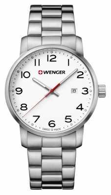 Wenger mens Avenue Stainless Steel Bracelet Watch 01.1641.104