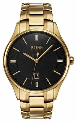 Hugo Boss Mens Governor Gold Bracelet Watch 1513521