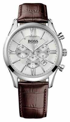 Hugo Boss Mens Ambassador Brown Leather Watch 1513195