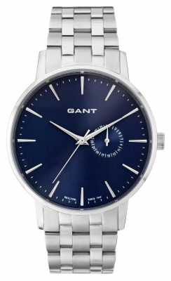 GANT Mens Park Hill II Stainless Steel Blue Dial W108412
