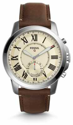 Fossil Q Grant Hybrid Smartwatch Dark Brown Leather FTW1118