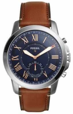 Fossil Q Grant Hybrid Smartwatch Light Brown Leather FTW1122