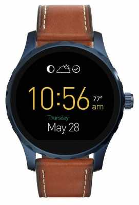 Fossil Mens Gen 2 Q Marshal Smartwatch Brown Leather FTW2106
