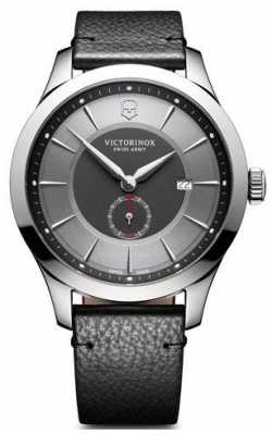 Victorinox Swiss Army Mens Alliance Large Grey Dial Black Leather Strap 241765