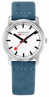 Mondaine Simply Elegant Slim Watch Powder Blue A400.30351.16SBD