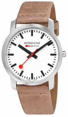 Mondaine Simply Elegant Slim Watch 41mm Sand A638.30350.16SBG