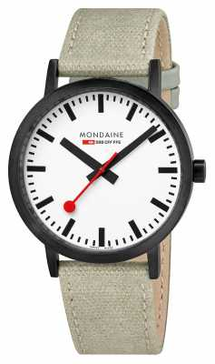 Mondaine Classic IP Case 40mm Beige Leather Canvas A660.30360.61SBG