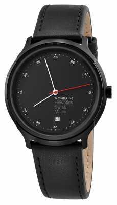 Mondaine Helvetica Spiekermann Regular 40mm Black Leather MH1.R2223.LB