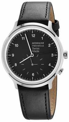 Mondaine Helvetica Spiekermann Regular 40mm Black Leather MH1.R2020.LB