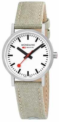 Mondaine Classic Steel Case Beige Leather Canvas A658.30323.16SBG