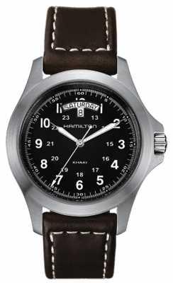 Hamilton Khaki Field King Quartz Brown Leather H64451533