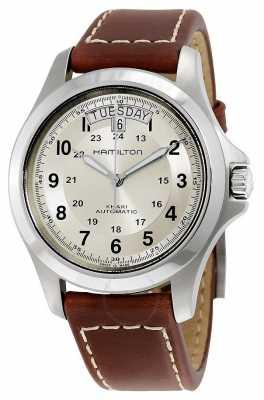 Hamilton Khaki Field Auto Brown Leather H64455523