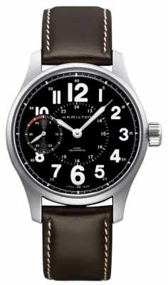 Hamilton Khaki Field Officer Mechanical Brown Leather H69619533