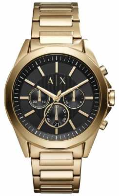 Armani Exchange Mens Chronograph Stainless Steel Black Dial AX2611