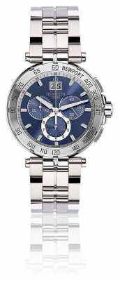 Michel Herbelin Mens Newport Chronograph Stainless Steel Bracelet Blue Dial 36696/B35