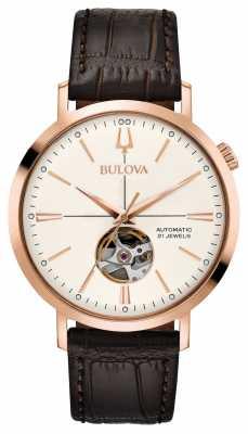 Bulova Mens Classic Automatic Rose Gold Tone 97A136