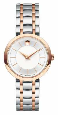 Movado Womans 1881 Two Tone Rose Gold Stainless Steel Bracelet 0607099