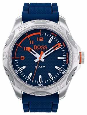 Hugo Boss Orange Mens Honolulu Watch In Blue Rubber 1550031